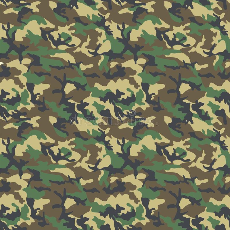 Woodland Camo Pattern. Concept design a illustration vector of New abstract Woodland camo army seamless green vector illustration