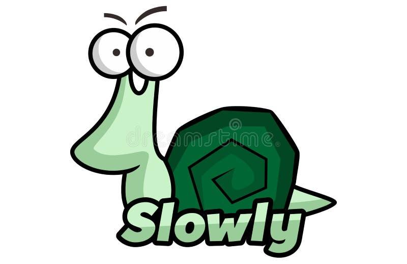 Slug Road Slowly. Concept design a illustration vector of Slug Road Slowly Cartoons. Isolated on white background stock illustration