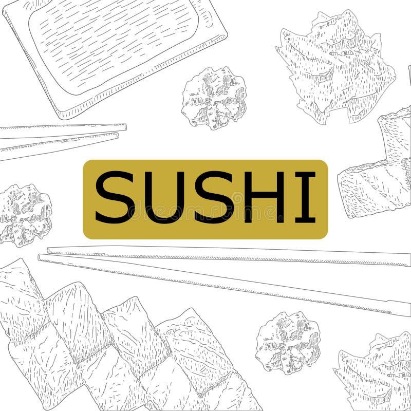 Concept design of the invitation sushi restaurant vector download concept design of the invitation sushi restaurant vector illustration stock vector illustration of stopboris Image collections
