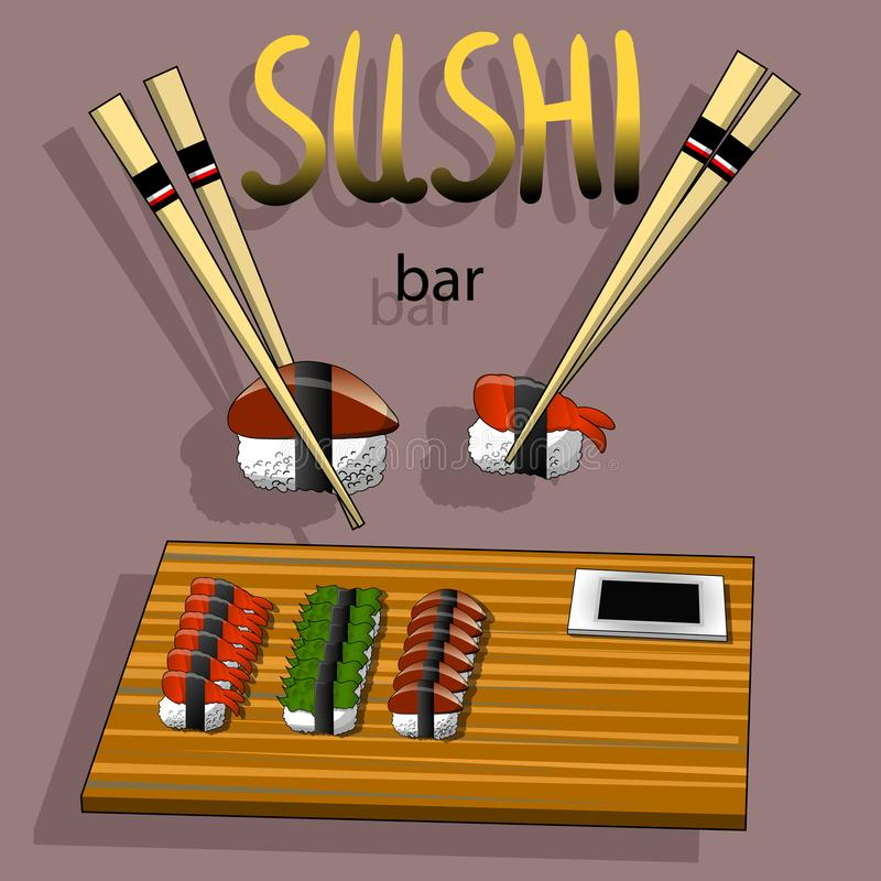 Concept design of the invitation sushi restaurant vector download concept design of the invitation sushi restaurant vector illustration stock illustration illustration of stopboris Image collections