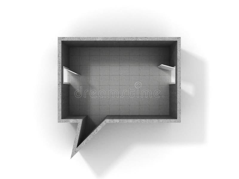 Concept of dialog. Idea of speaking. stock illustration