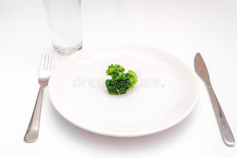 Concept diet fresh vegetables on plate at white background.  stock photos