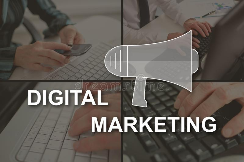 Concept of digital marketing stock images