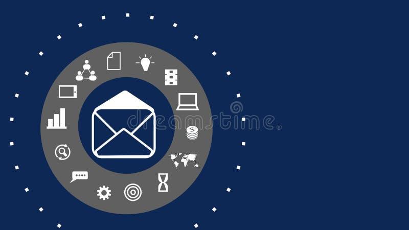 Concept of digital marketing media website ad, email, social network, SEO, video, mobile app vector illustration