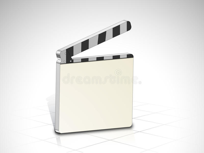 Concept of director clapboard. stock illustration