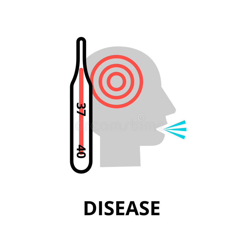 Concept of disease icon. Modern flat editable line design vector illustration, concept of disease icon, for graphic and web design vector illustration