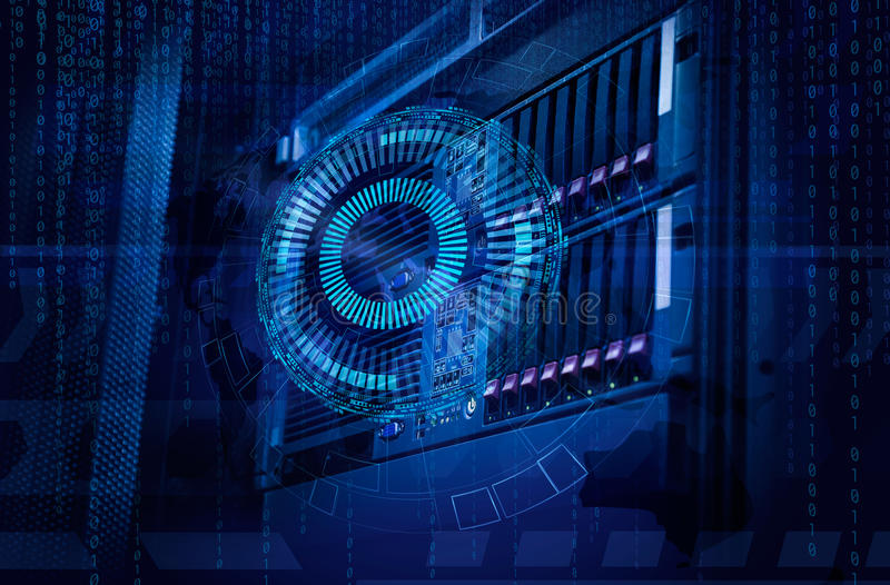 Concept of disk storage data center. Information technology and database on technological background. Concept of disk storage data center. Information technology stock photo