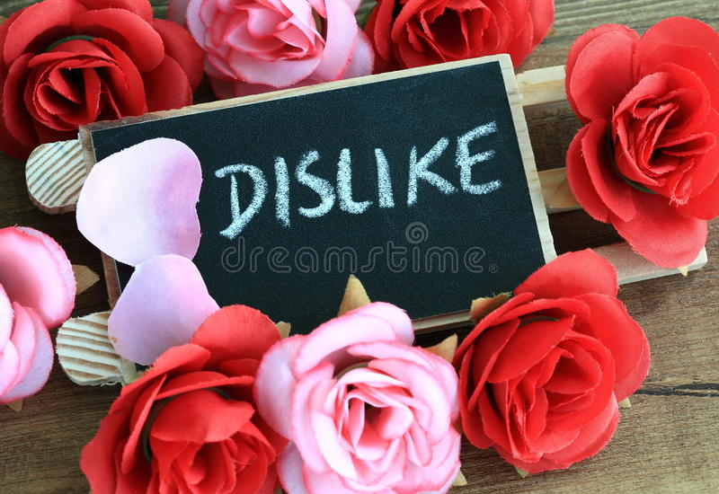 Concept of dislike royalty free stock images