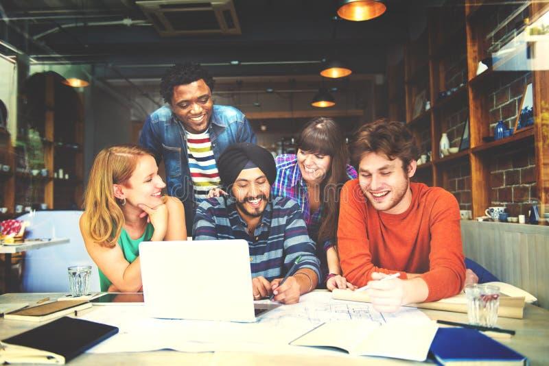 Concept divers de People Group Working d'architecte image libre de droits