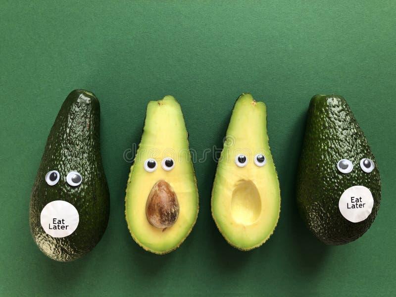 Concept drôle créatif de nourriture, avocats images libres de droits