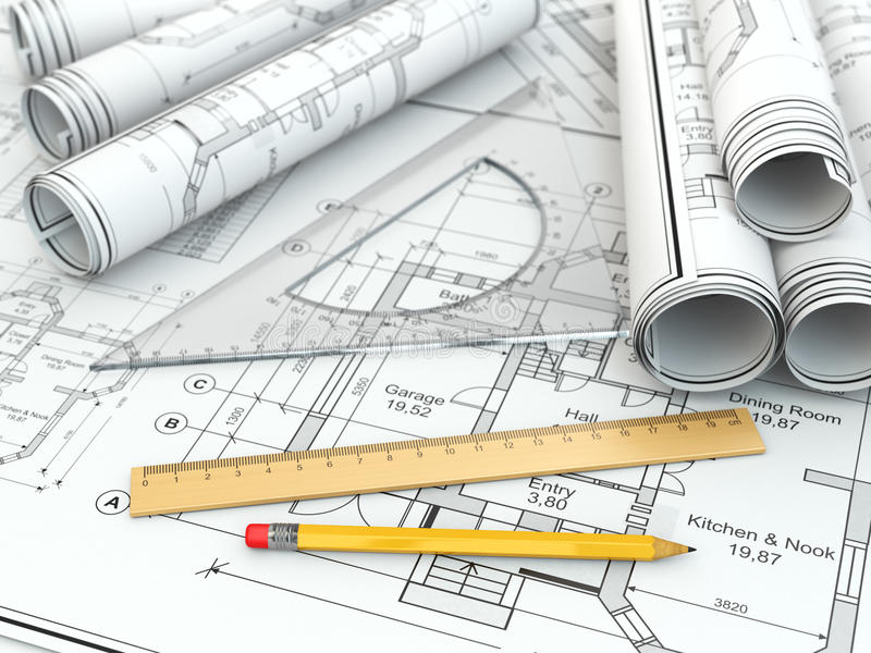 Concept of drawing blueprints and drafting tools stock download concept of drawing blueprints and drafting tools stock illustration illustration of concepts malvernweather Images