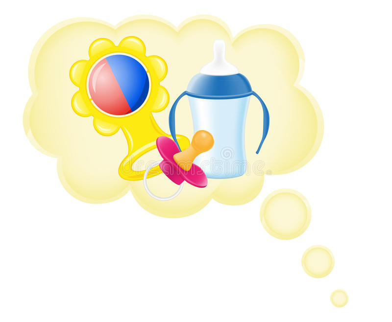 Concept Of Dream A Baby In Cloud Vector Illustrati Stock Images