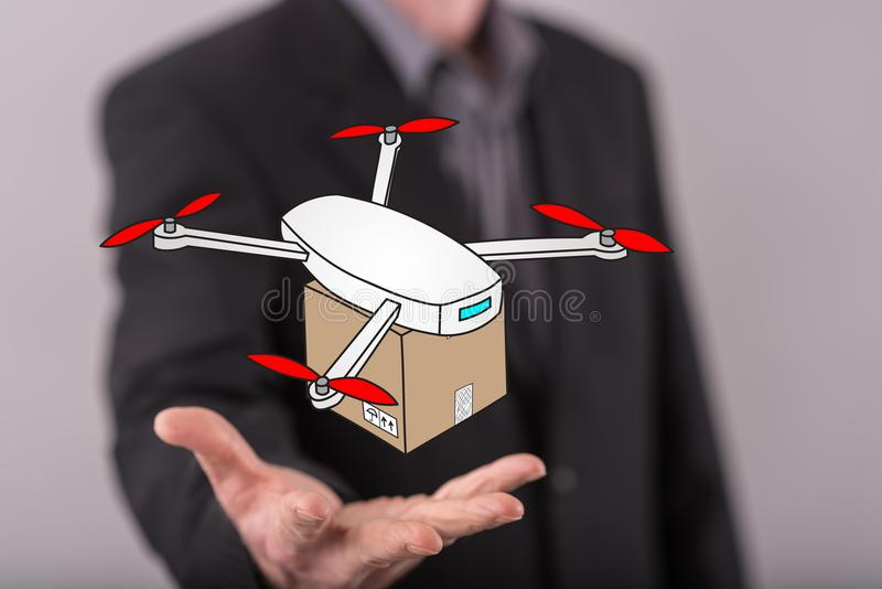 Drone Delivery Stock Images - Download 3,234 Royalty Free Photos