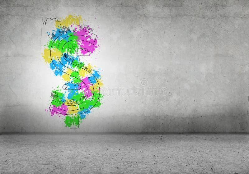 Concept du dollar illustration libre de droits