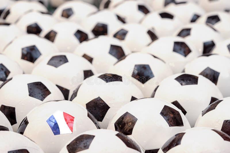 Concept du football dans les Frances image libre de droits