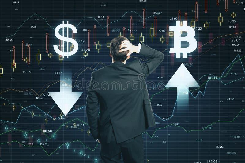 Concept du marché et de cryptocurrency photos libres de droits