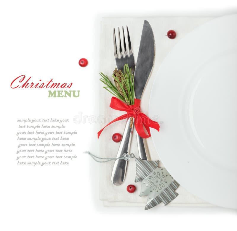 concept du menu de Noël photo stock