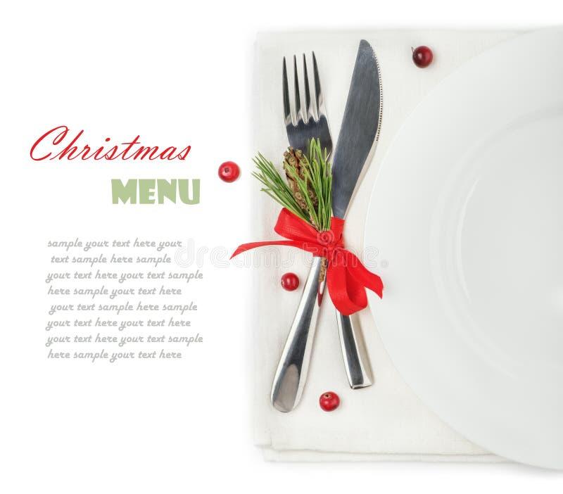 concept du menu de Noël photos libres de droits