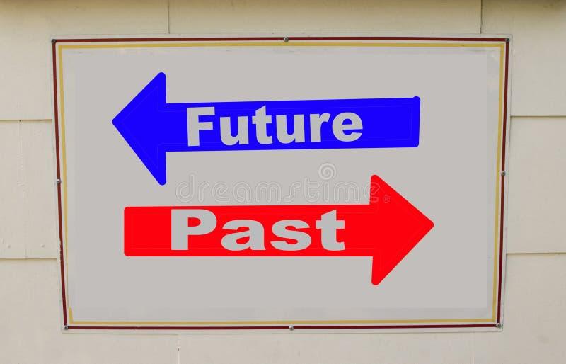 Concept du passé et de l'avenir photographie stock libre de droits