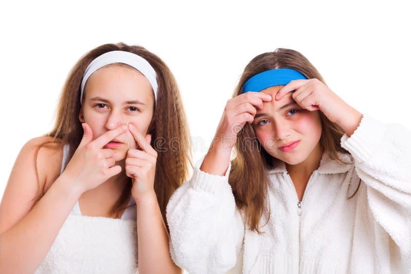 Concept du problème de peau de l'adolescent photo stock