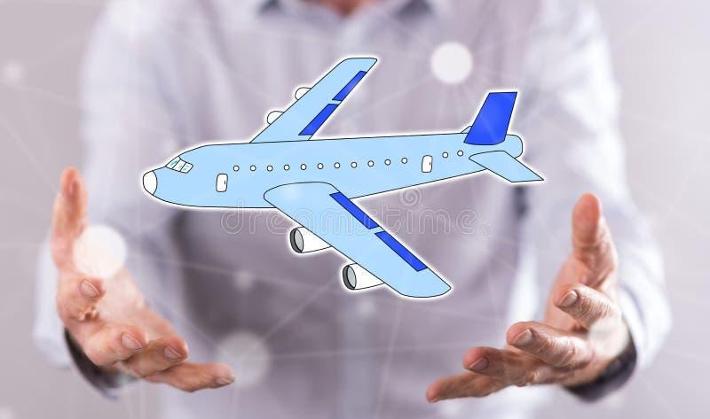 Concept du transport aérien photos stock