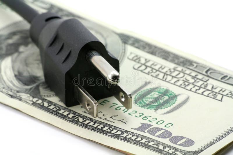 Concept dure energierekening royalty-vrije stock afbeelding