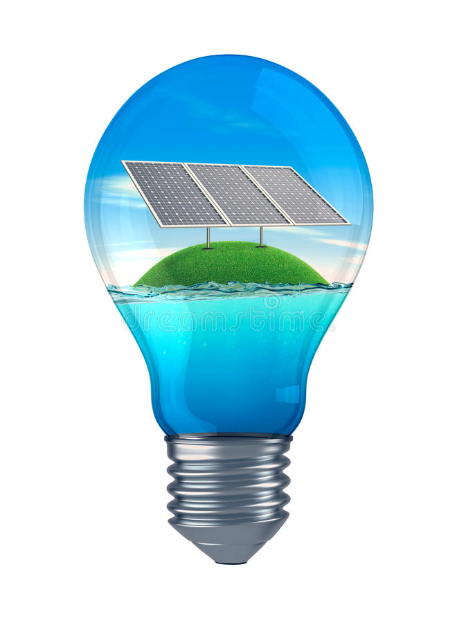 Concept duurzame energie royalty-vrije illustratie