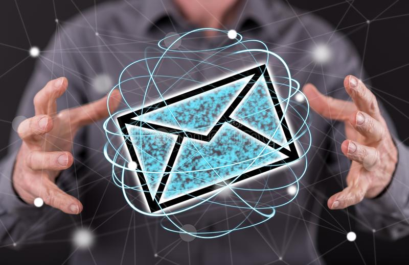 Concept of e-mail stock photography