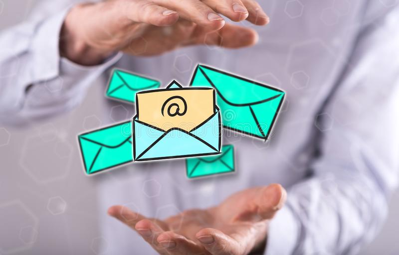 Concept of e-mail stock illustration