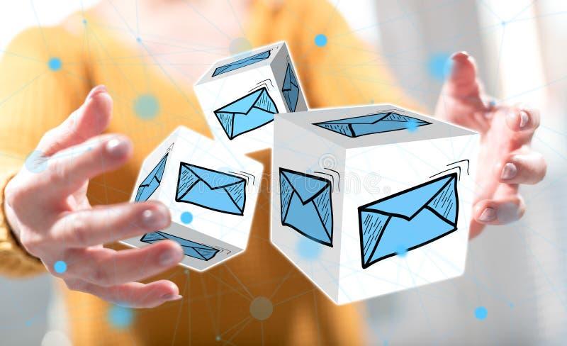 Concept of e-mail stock photo