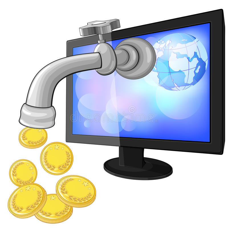 Concept of earning money with Internet
