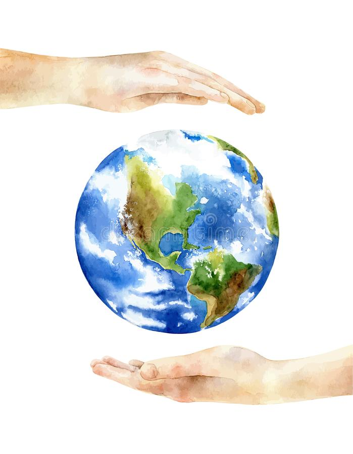 Concept of the Earth Day stock illustration