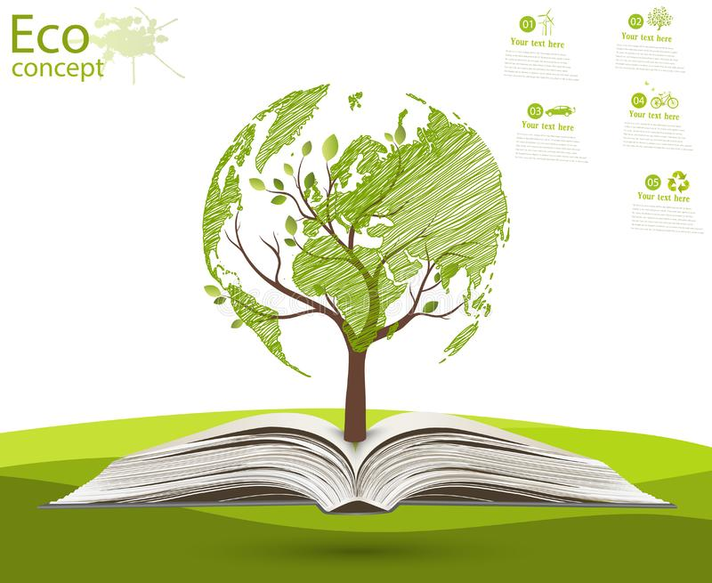 The concept of ecology. vector illustration