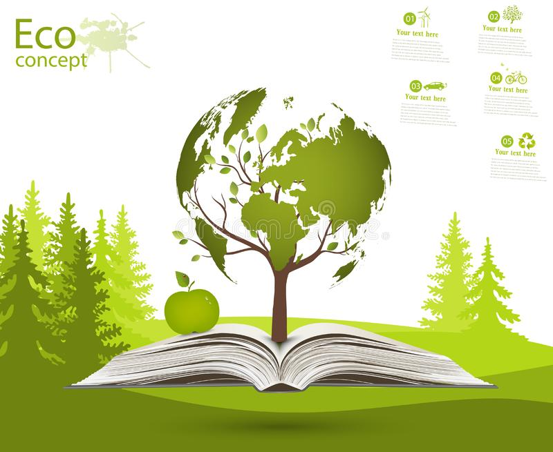 The concept of ecology. royalty free illustration