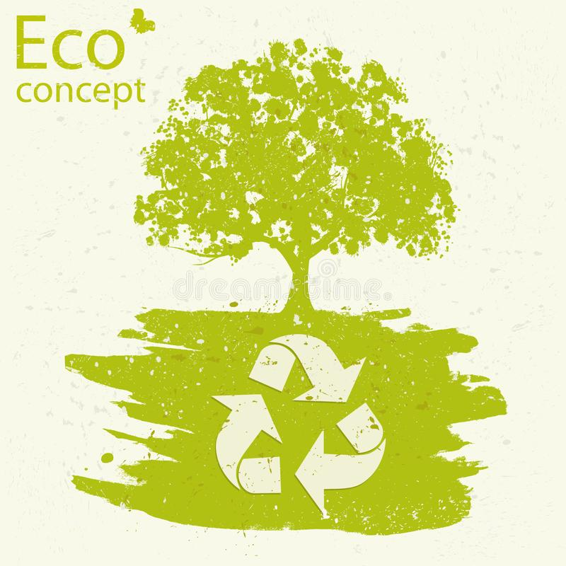 The concept of ecology, royalty free illustration