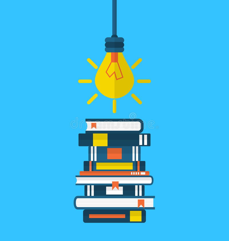 Free Concept Education And Learning, Flat Icons Of Heap Textbooks Royalty Free Stock Photo - 50790645