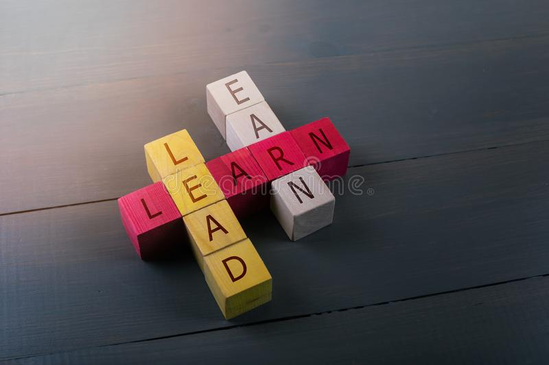 Concept of education leadership and business success stock images