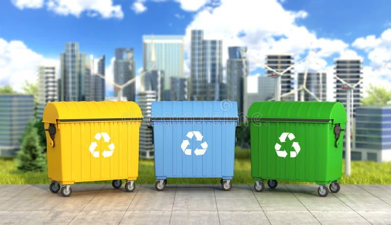 Concept een schoon milieu stock illustratie