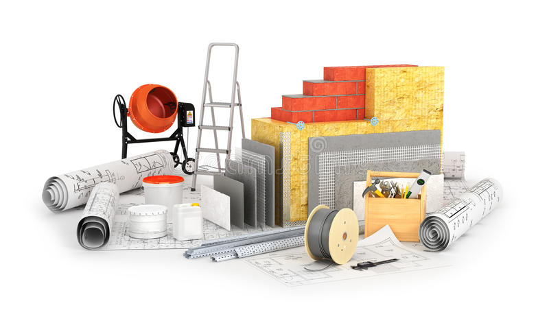Concept een warm huis stock illustratie