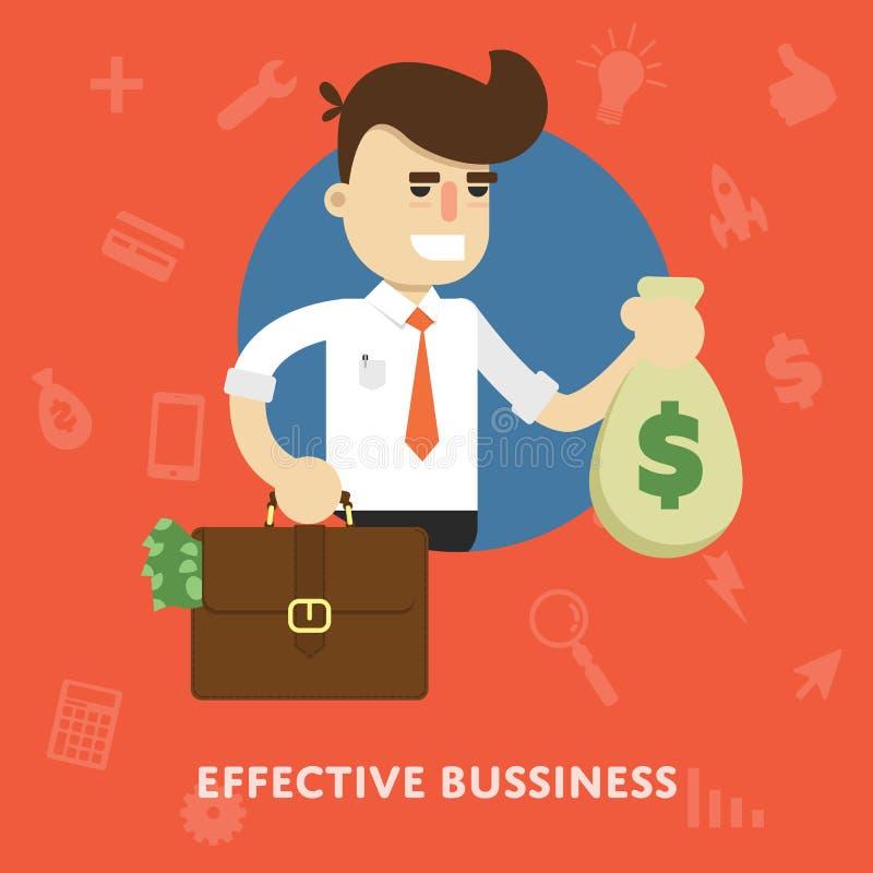 Concept efficace de gestion d'entreprise illustration de vecteur