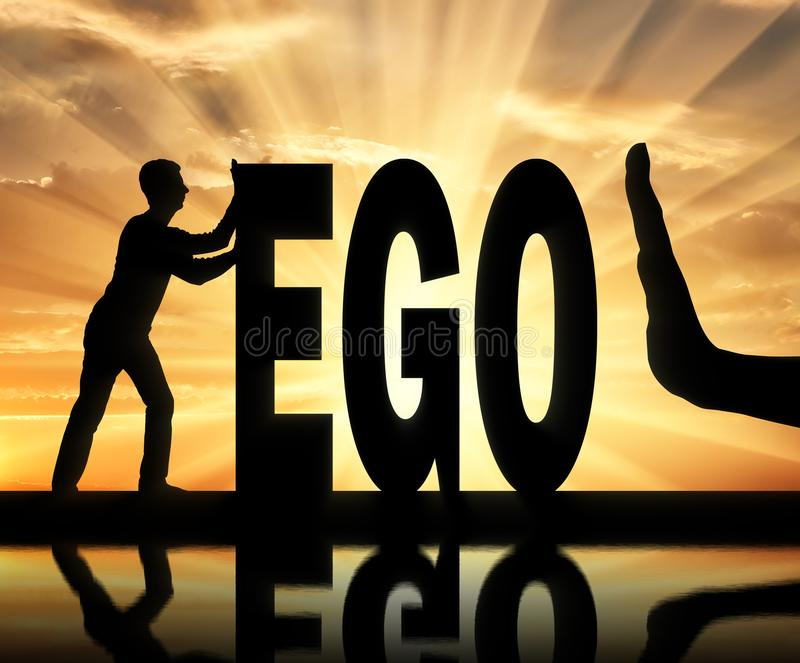 Concept of egoism as a problem in society royalty free stock images
