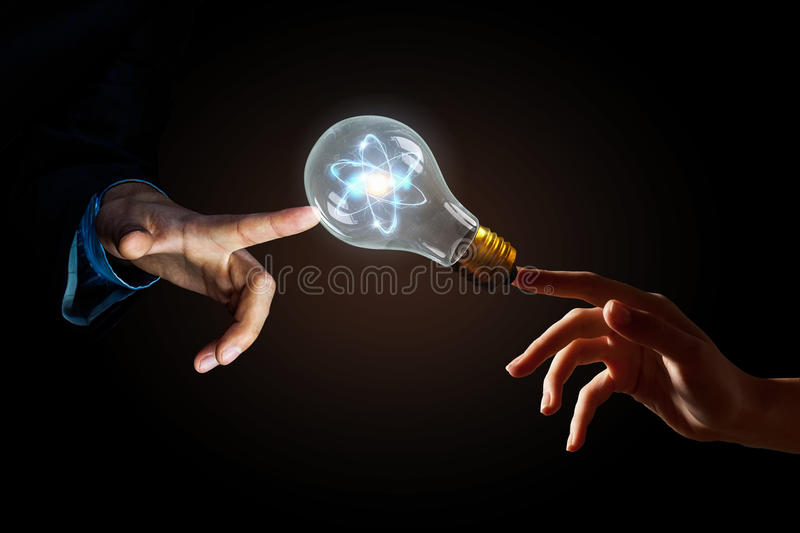 Concept of electric energy royalty free stock photography