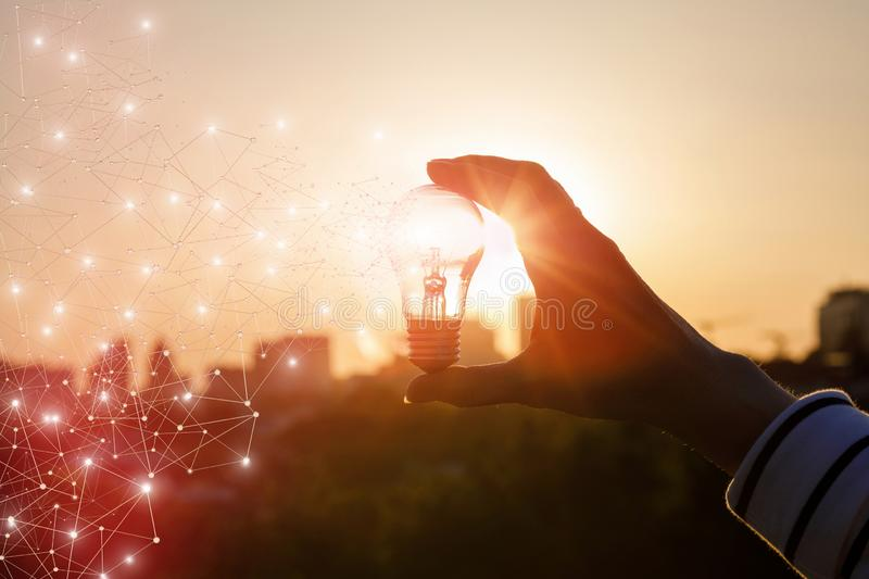 The concept of the emergence of innovative idea royalty free stock photos