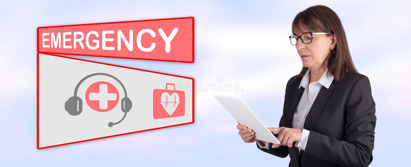 Concept of emergency royalty free stock image