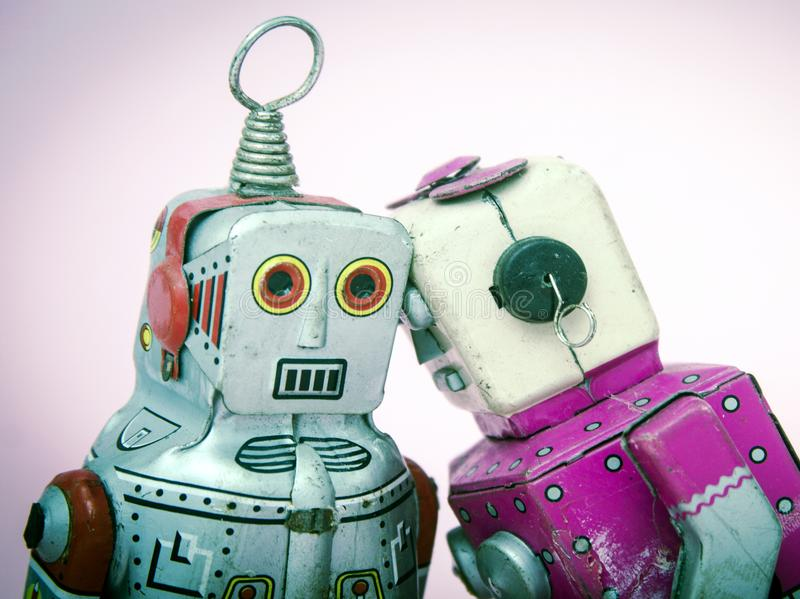 Concept emotional support wuth robot roys stock images