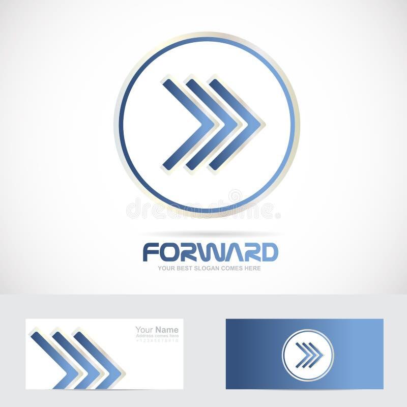 Concept en avant de logo de flèche illustration de vecteur