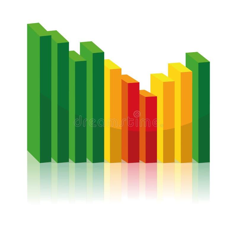 Concept en baisse et en hausse de diagramme d'affaires illustration de vecteur