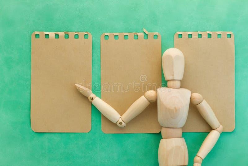 Concept en bois d'affaires de présent d'homme photo libre de droits