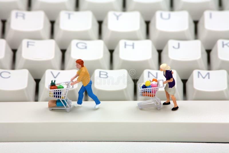 Concept en ligne d'achats. photographie stock libre de droits