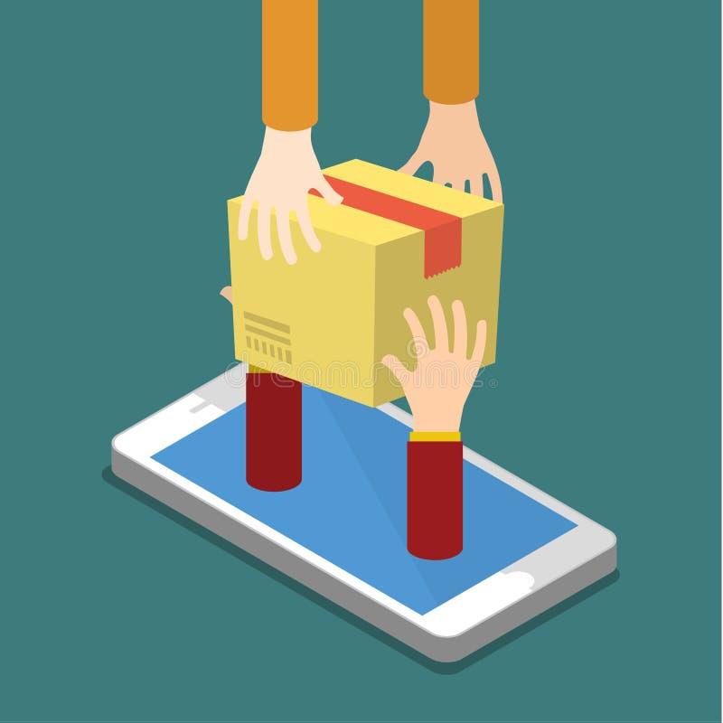 Concept en ligne d'achats et livraison rapide illustration libre de droits